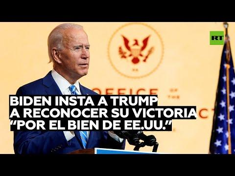 Joe Biden ya programa la ceremonia de investidura e insta a Trump a asistir al evento