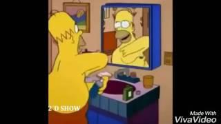 Homero simpson cantando hasta el amanecer de niky jam