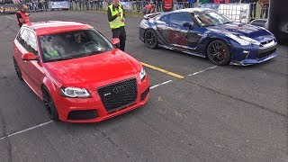 Audi RS3 Sportback vs Nissan GT-R – DRAG RACE!