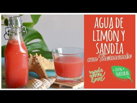 Agua de limón y sandía