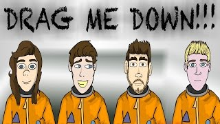 One Direction - Drag me down (CARTOON PARODY)