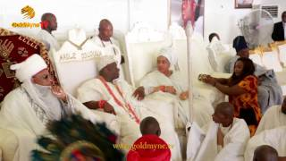 OLORI WURAOLA PAYS HOMAGE TO OONI OF IFE AT HIS 1ST YEAR CORONATION ANNIVERSARY
