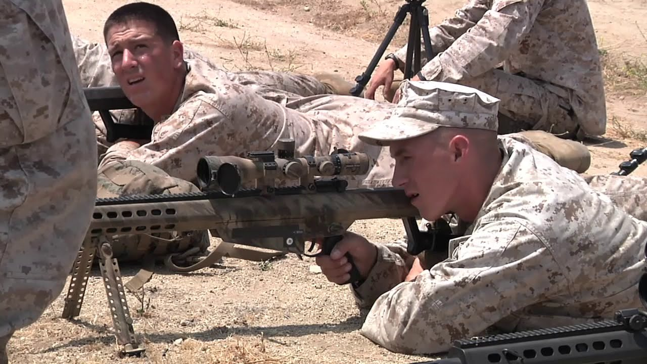U.S. Recon Marines • Sniper Training • 50 Caliber Sniper Rifle