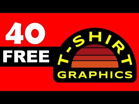 I Found 40 Free High-End T-Shirt Graphics