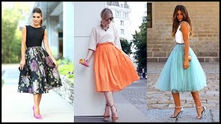 How to Look Classy with Midi Skirts Outfits