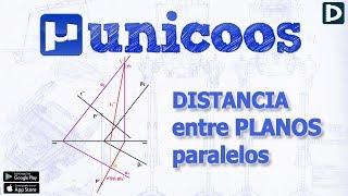 Imagen en miniatura para Distancia entre dos planos paralelos DIÉDRICO