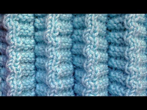 СКЛАДОЧКИ Узор вязания спицами для юбки 86  Как вязать юбку