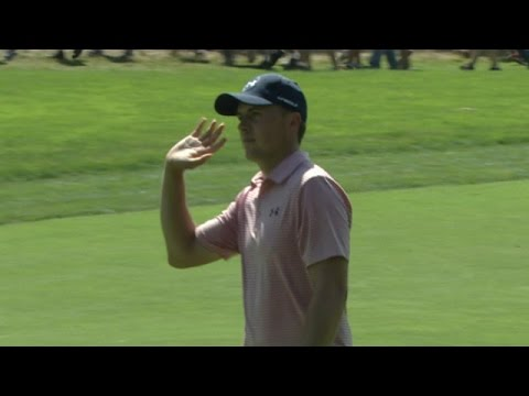 Jordan Spieth sets up kick-in eagle with magnificent approach at The Barclays