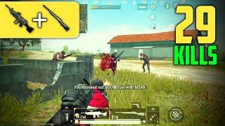 M249 + M24 IS OP!!   29 KILLS SOLO VS SQUAD   PUBG Mobile