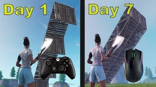 XBOX to PC- 7 Day Progression- Fortnite Battle Royale