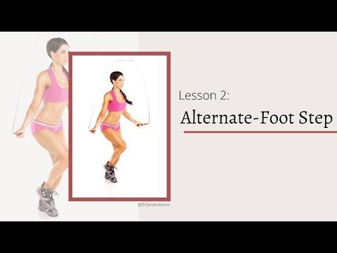 Jump Rope Lesson 2: Alternate-Foot Step