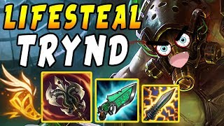 FULL Lifesteal Tryndamere   1 Crit = FULL HEAL - Shiv + Gunblade Synergy   League of Legends