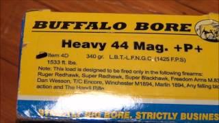 HOT 44 Magnum Buffalo Bore Loads - YouTube