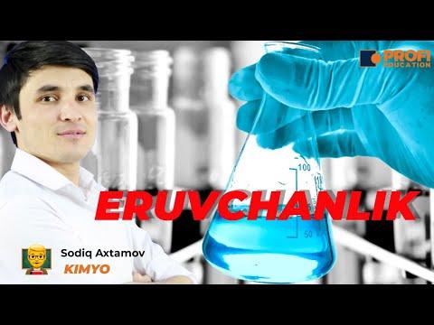 Umumiy kimyo: Eruvchanlik