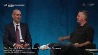 SSAC19: Who Says No? A 1-on-1 with Adam Silver and Bill Simmons