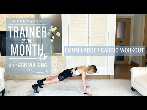 10 Minute EMOM Ladder Cardio Workout | Trainer of the Month Club | Well+Good