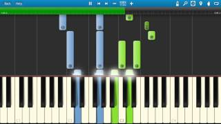 Europe - Carrie Piano Tutorial - How to play Carrie on piano - Synthesia