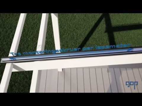 gop Multiglas Kanaltak Monteringsfilm - Bygg et kanaltak till verandaen
