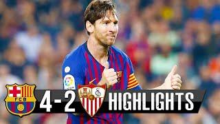 Resumer Seville vs Fc Barcelone (2-4)