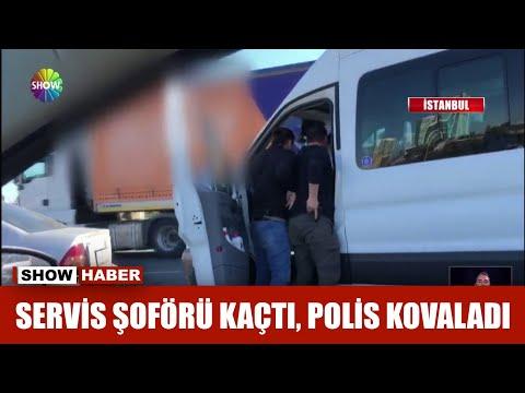 Servis şoförü kaçtı, polis kovaladı