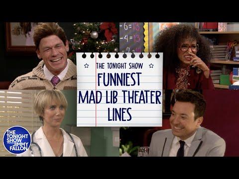 Funniest Mad Lib Theater Lines