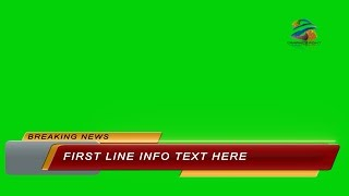 Lower Third in Green Screen Full HD  Footage