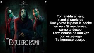 Don Omar Ft Zion y Lennox - Te Quiero Pa Mi (Video Lyric)