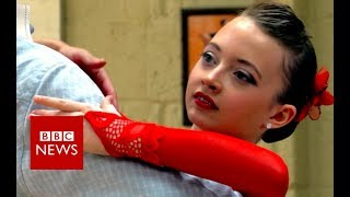 The 11-year-old ballroom dancer winning without a partner - BBC News