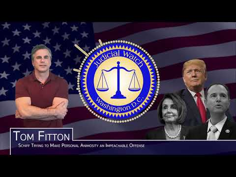 Tom Fitton: Trump Impeachment Hearings are 'Damaging the Republic!' Legal Issues over Whistleblower