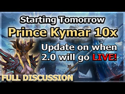 RAID Shadow Legends | KYMAR 10X TOMORROW! | 2.0 RELEASE DATE INFO!