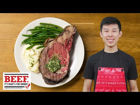 Alvin's Roast Prime Rib with Garlic Herb Butter // Presented by Beef. It's What's For Dinner.