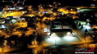 DJI Inspire 2 Night Video Over Madawaska
