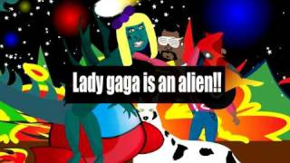 Lady GaGa Is An Alien ft. kanye west - flash animation