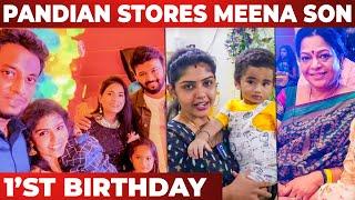Pandian Stores Meena வீட்டில் விஷேசம் | Shaadvik 1st Birthday Celebration | Hema Sathish