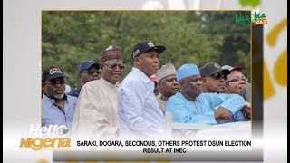 Saraki, Dogara, Secondus & Others Protest The Osun Election Results At INEC
