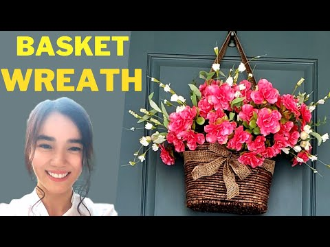 DIY: Basket Wreath in less than 5 minutes (EASY)