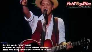 BRUNO MARS - COUNT ON ME Live in Jakarta, Indonesia 2014