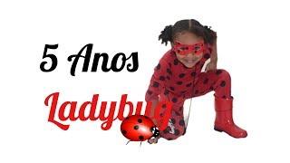 Retrô Ana Livia Ladybug - 5 Anos