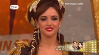 rosangela espinoza baila saya y caporal en Reyes del show 26 11 16  .