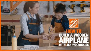 A mother and son working on a Kids Workshop Project.