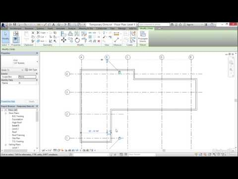 Revit 2017: Essential Training for Architecture (Imperial) | Refinine using temporary dimensions