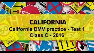 DMV driving test California 2016 practice Test 1 - #1
