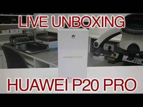 LIVE UNBOXING - HUAWEI P20 PRO