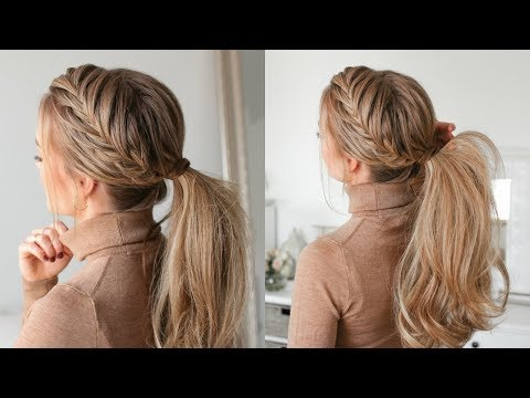 Fishtail French Braid Ponytail | Missy Sue
