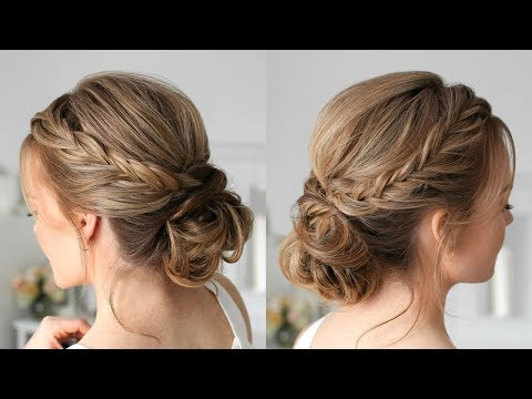 Double Fishtail French Braid Updo | Missy Sue