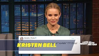 Kristen Bell Reads Donald Trump's Tweets as Gossip Girl