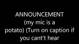 Announcement + Voice reveal!