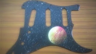 Spray Paint Art: Custom Pickguard #1 🎸