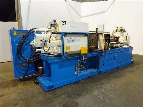 Used- Nestal Horizontal Injection Mold Machine, Model HP1000/445 - stock # 48525001