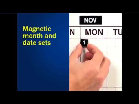 31-Day Giant Month Magnetic Dry Erase Calendar